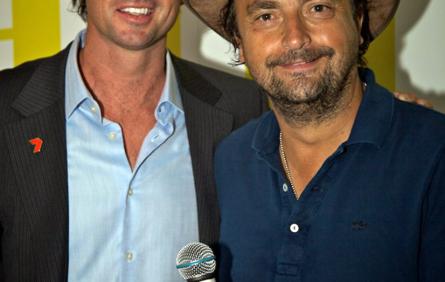 With Henri Leconte at the 2011 Australian Tennis Open