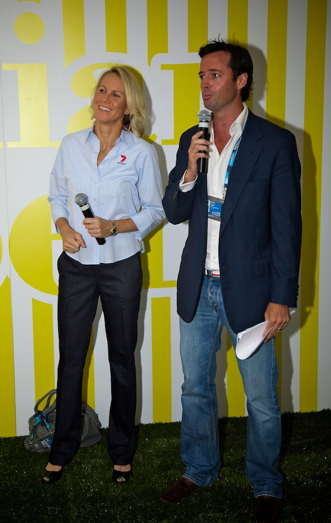 Interviewing Renae Stubbs at the 2011 Australian Tennis Open
