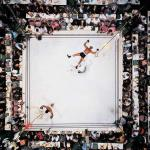 Amazing shot of Muhammad Ali knocking out Cleveland Williams in front of a crowd of 35,000. Houston, Texas 1966.