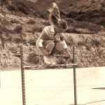 Skateboarding legend, Ellen O'Neal going freestyle, 1977