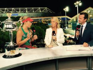 Australian Open 2016 post-match with Angelique Kerber